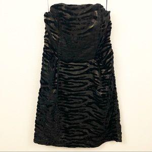 Urban Outfitters CO 6 Strapless Dress Velvet Gold